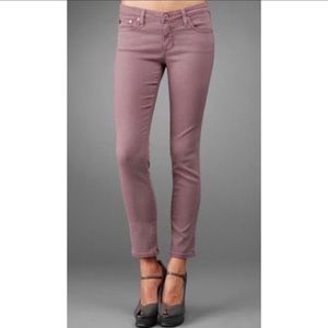 AG the Stevie Ankle Jeans in Dusty Rose Sz 30x27